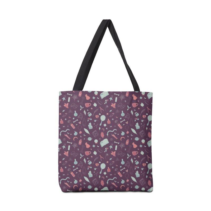 Hocus Pocus - Purple & Mint Accessories Bag by Calobee Doodles