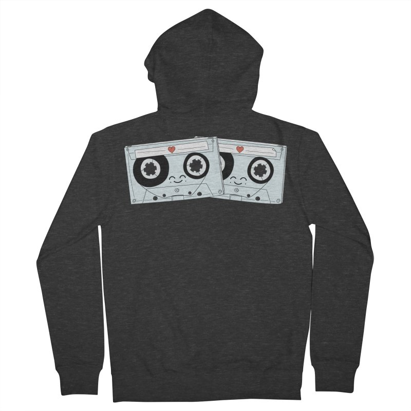Let's Mix it Up Men's French Terry Zip-Up Hoody by Calobee Doodles