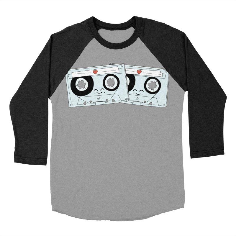 Let's Mix it Up Men's Baseball Triblend T-Shirt by Calobee Doodles