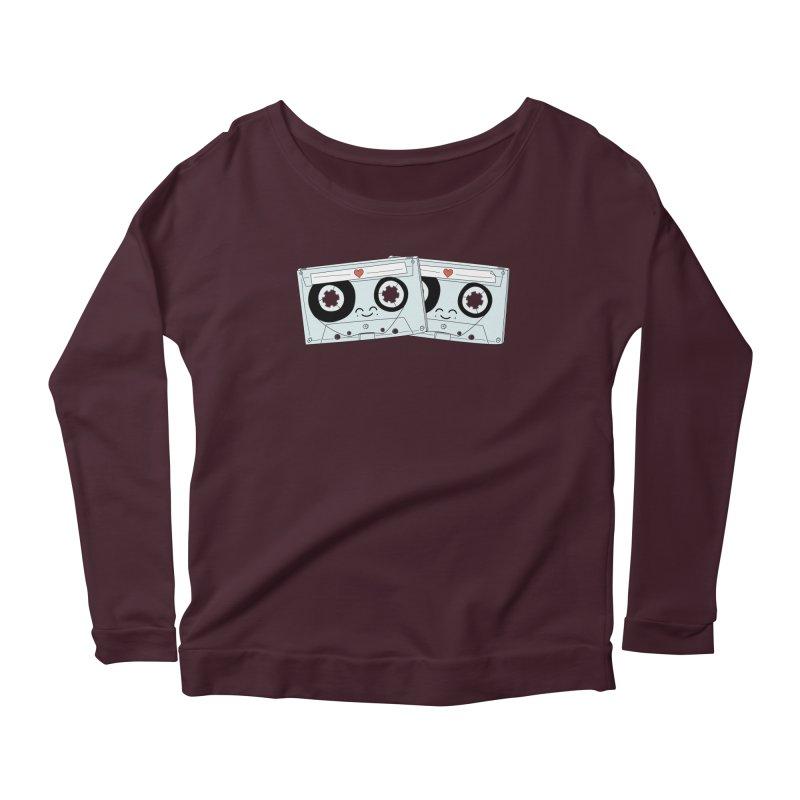 Let's Mix it Up Women's Scoop Neck Longsleeve T-Shirt by Calobee Doodles