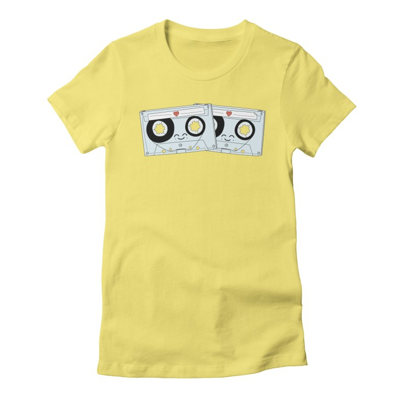 Let's Mix it Up Women's Fitted T-Shirt by Calobee Doodles