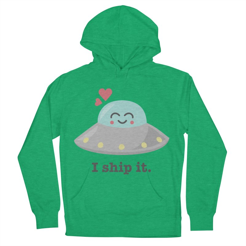 I ship it. Men's French Terry Pullover Hoody by Calobee Doodles