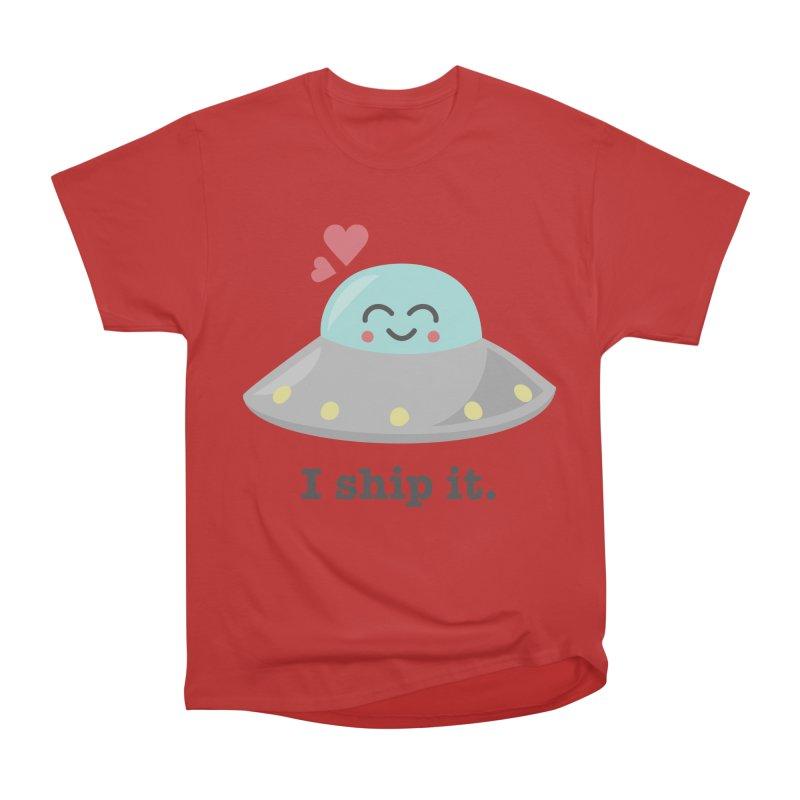 I ship it. Men's Heavyweight T-Shirt by Calobee Doodles