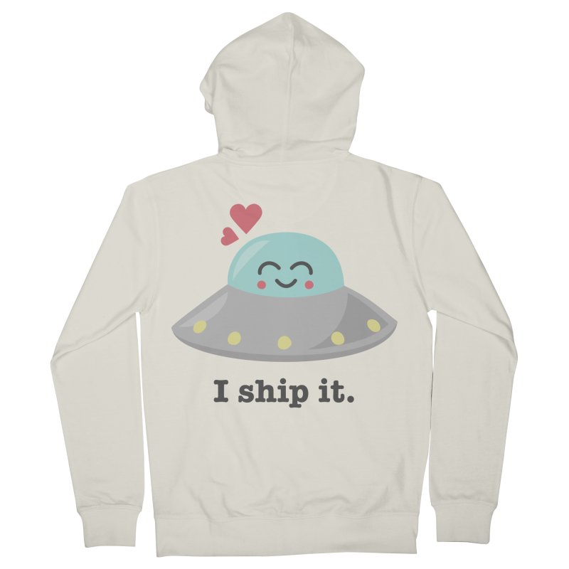 I ship it. Women's French Terry Zip-Up Hoody by Calobee Doodles