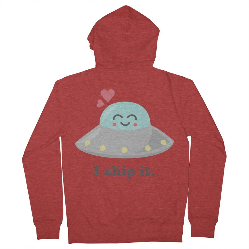I ship it. Men's French Terry Zip-Up Hoody by Calobee Doodles