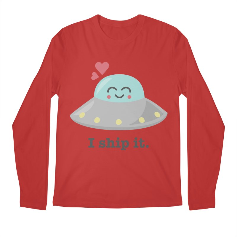 I ship it. Men's Regular Longsleeve T-Shirt by Calobee Doodles