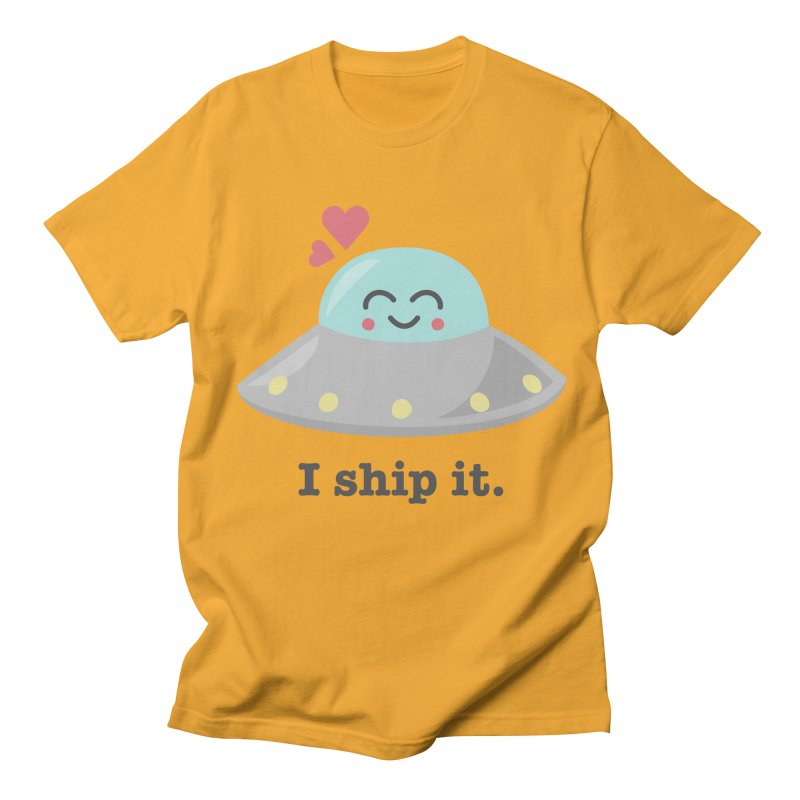 I ship it. Women's Unisex T-Shirt by Calobee Doodles