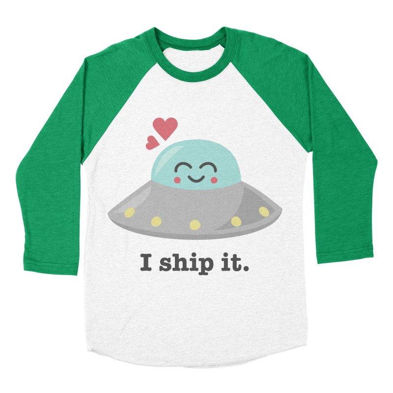 I ship it. Women's Baseball Triblend Longsleeve T-Shirt by Calobee Doodles