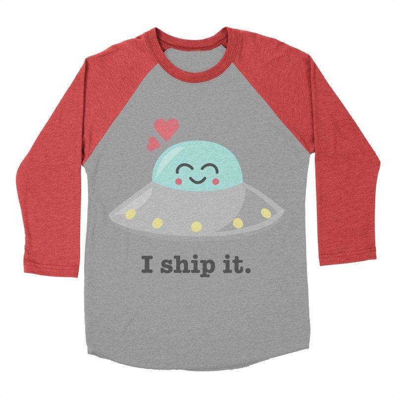 I ship it. Men's Baseball Triblend T-Shirt by Calobee Doodles