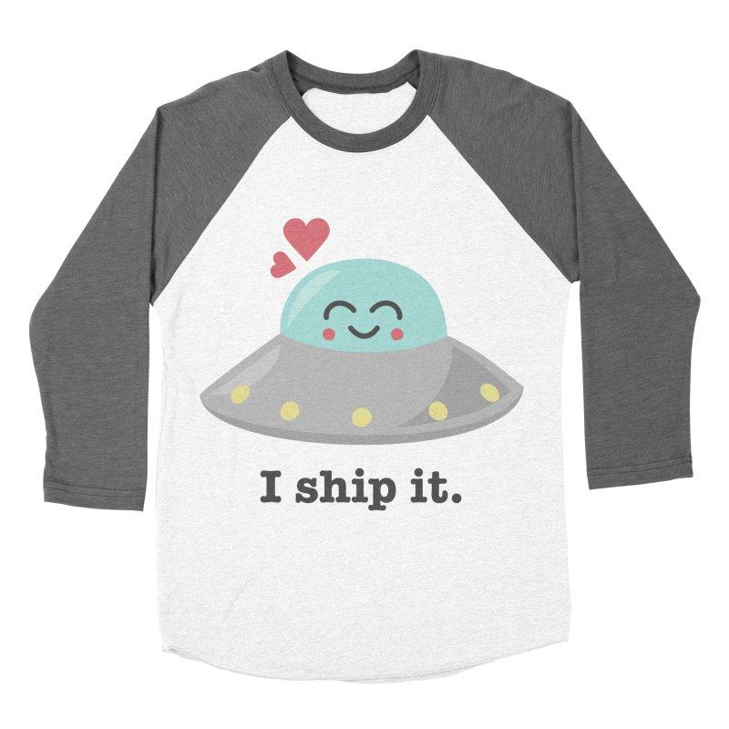 I ship it. Men's Baseball Triblend Longsleeve T-Shirt by Calobee Doodles