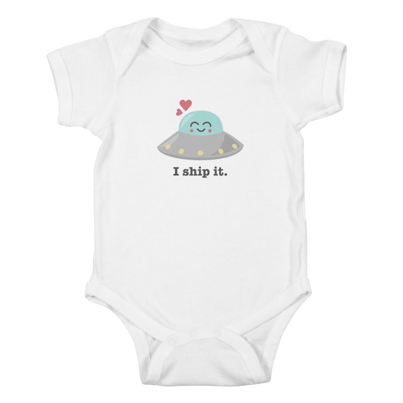 I ship it. Kids Baby Bodysuit by Calobee Doodles