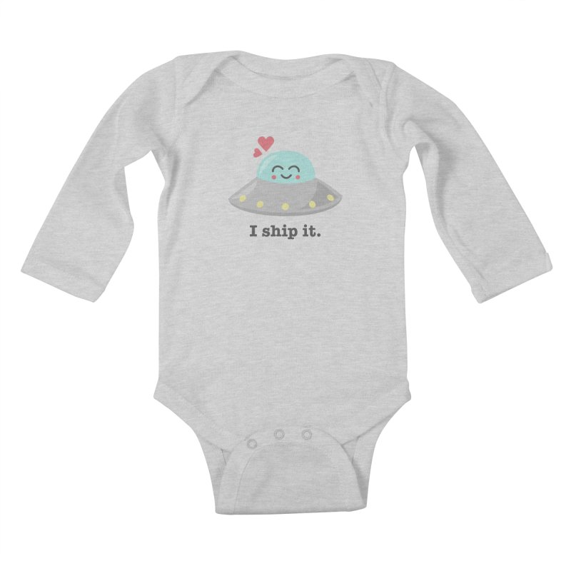 I ship it. Kids Baby Longsleeve Bodysuit by Calobee Doodles