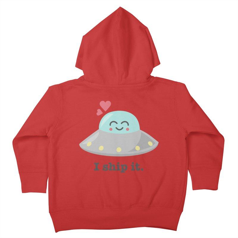I ship it. Kids Toddler Zip-Up Hoody by Calobee Doodles