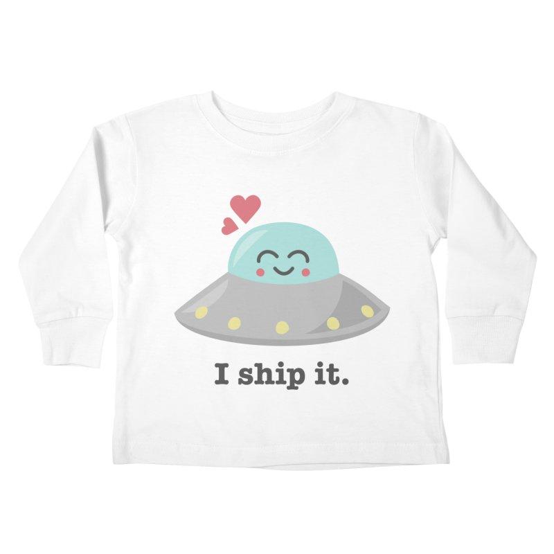 I ship it. Kids Toddler Longsleeve T-Shirt by Calobee Doodles