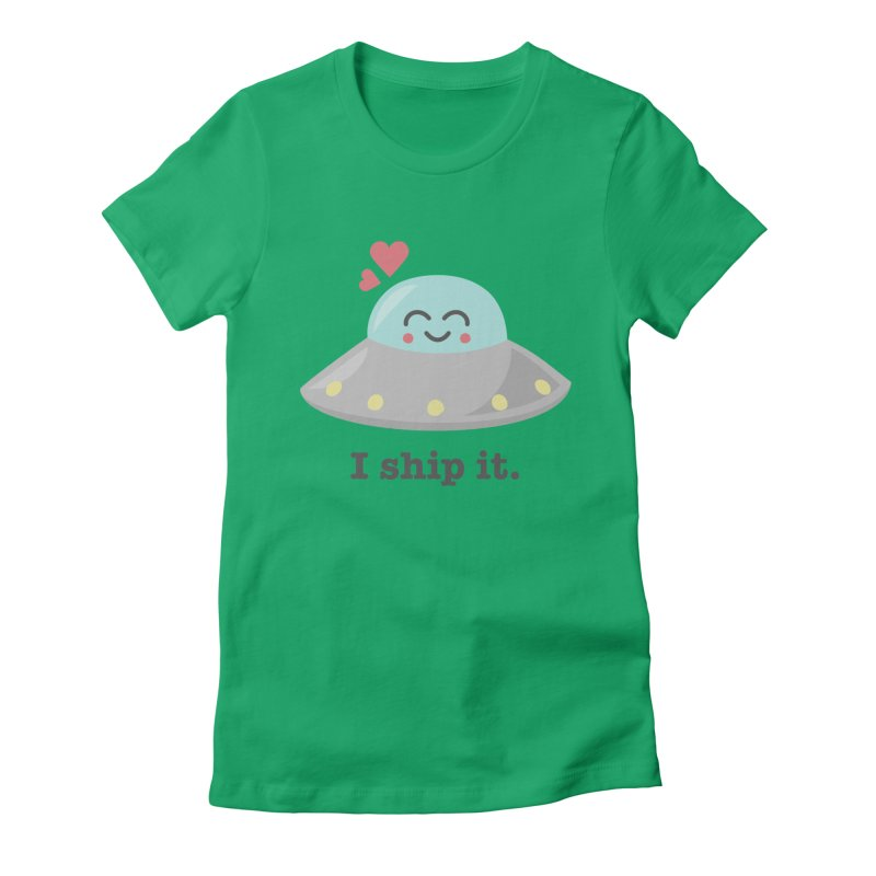 I ship it. Women's Fitted T-Shirt by Calobee Doodles
