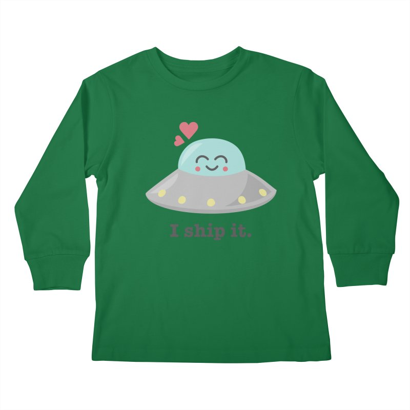 I ship it. Kids Longsleeve T-Shirt by Calobee Doodles