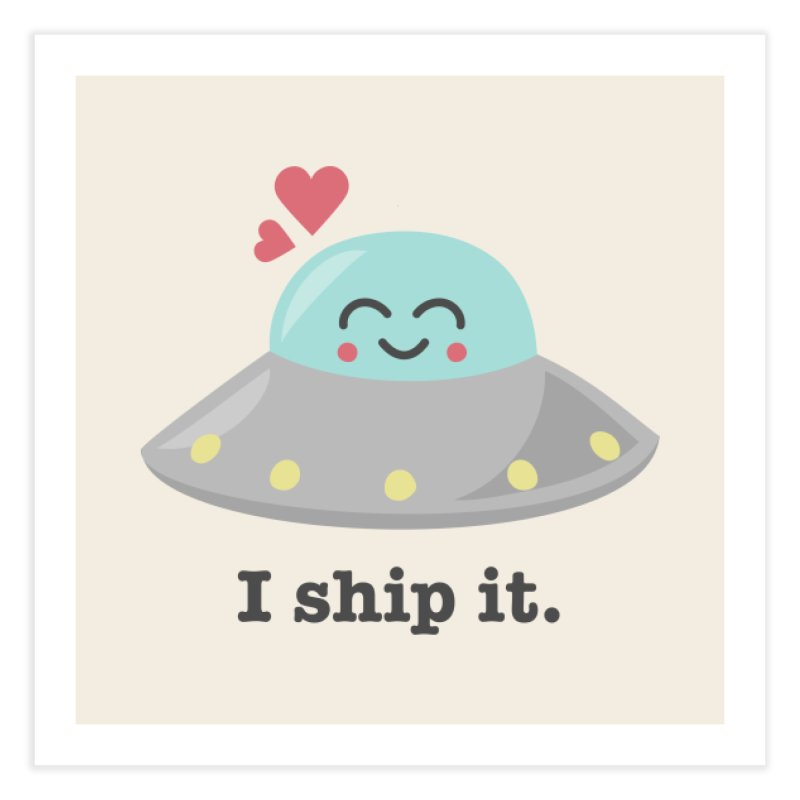 I ship it. Home Fine Art Print by Calobee Doodles