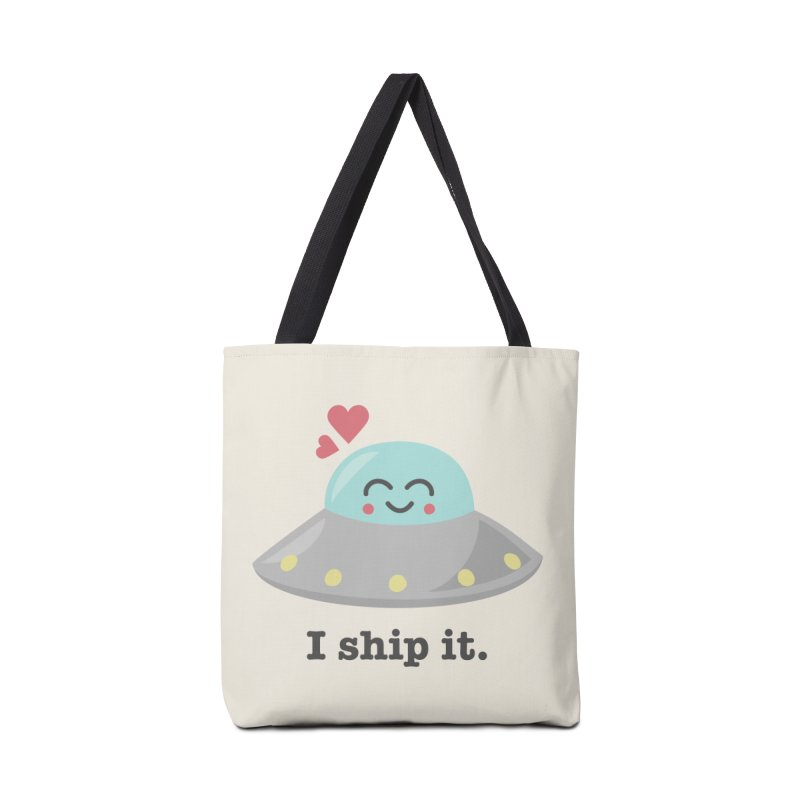 I ship it. Accessories Bag by Calobee Doodles