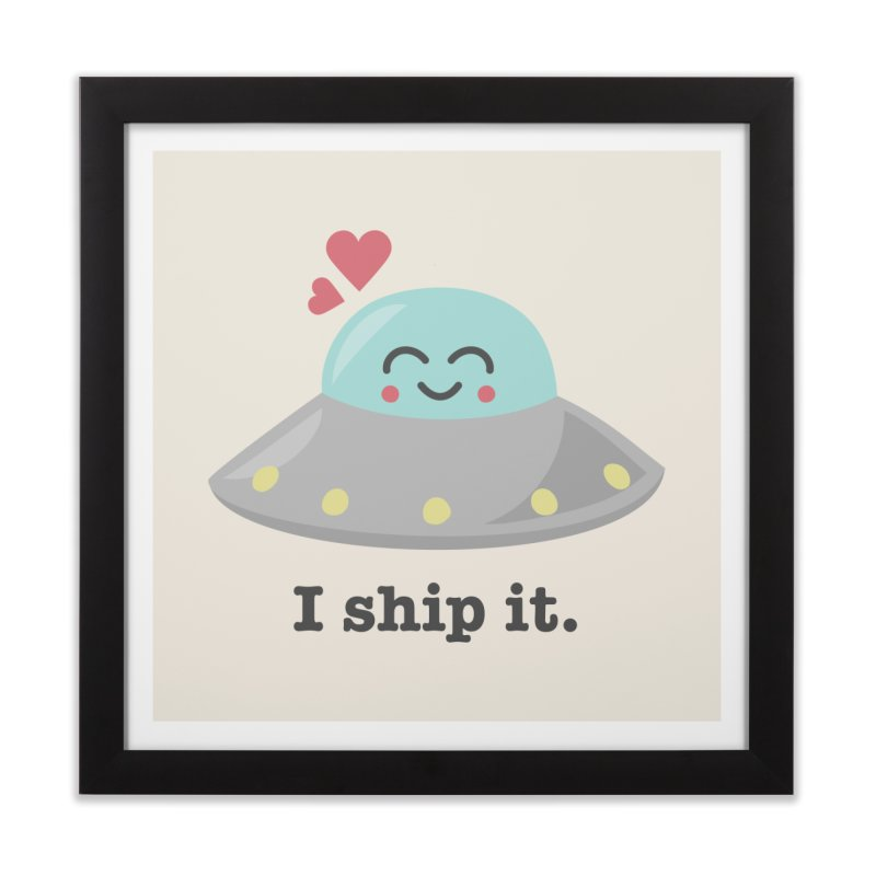 I ship it. Home Framed Fine Art Print by Calobee Doodles