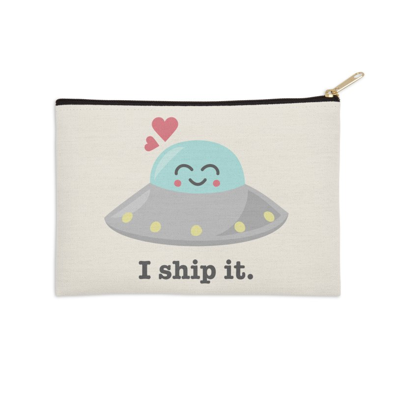I ship it. Accessories Zip Pouch by Calobee Doodles