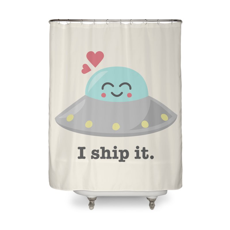 I ship it. Home Shower Curtain by Calobee Doodles