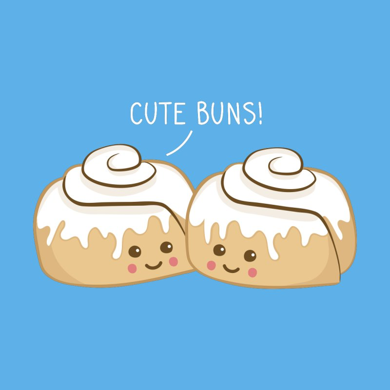 cute buns! Men's Longsleeve T-Shirt by Calobee Doodles