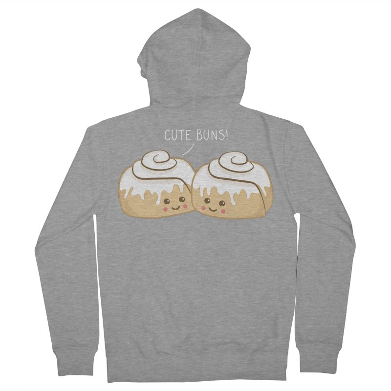cute buns! Women's French Terry Zip-Up Hoody by Calobee Doodles