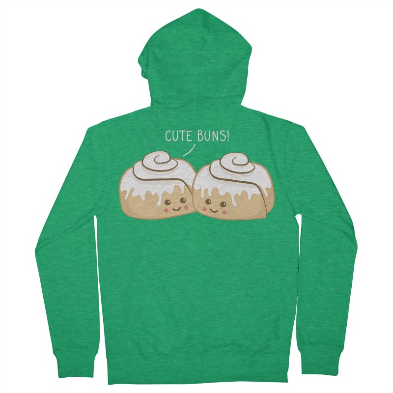 cute buns! Men's French Terry Zip-Up Hoody by Calobee Doodles