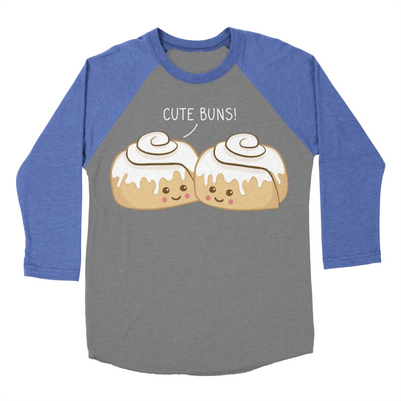 cute buns! Men's Baseball Triblend Longsleeve T-Shirt by Calobee Doodles
