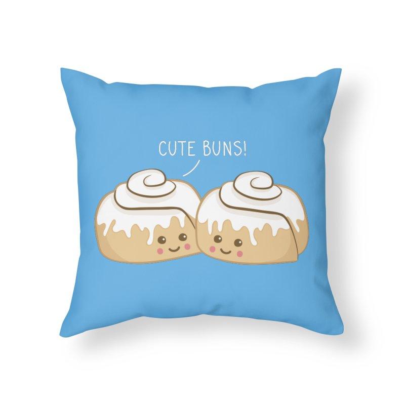 cute buns! Home Throw Pillow by Calobee Doodles