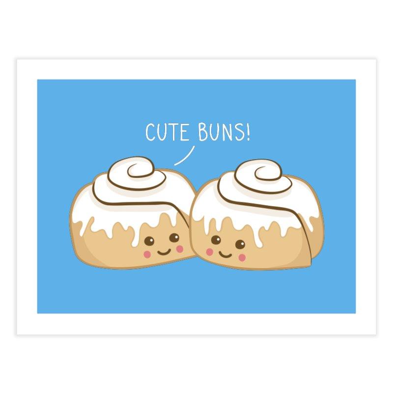 cute buns! Home Fine Art Print by Calobee Doodles