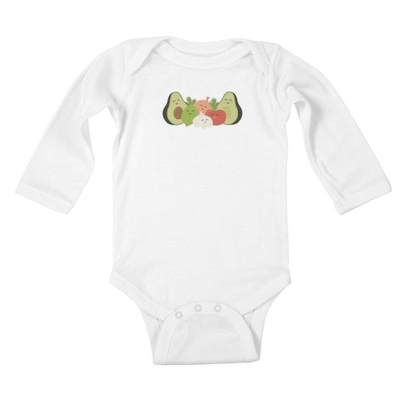 Guac & Roll Kids Baby Longsleeve Bodysuit by Calobee Doodles