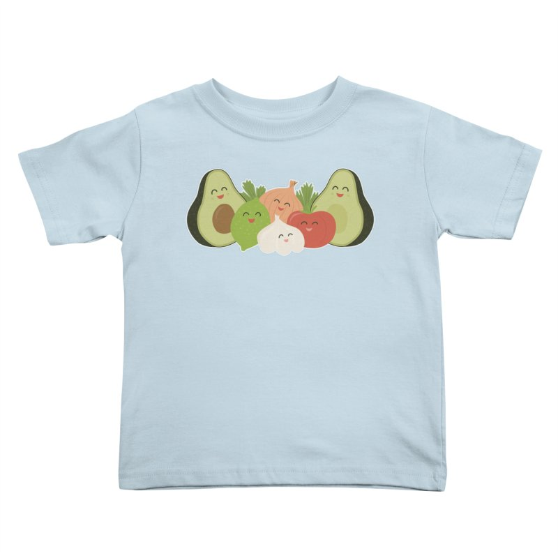Guac & Roll Kids Toddler T-Shirt by Calobee Doodles