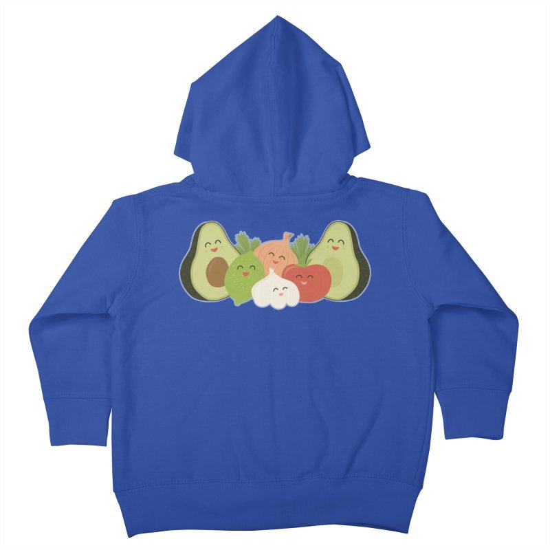 Guac & Roll Kids Toddler Zip-Up Hoody by Calobee Doodles