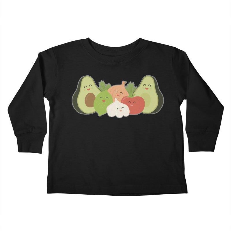 Guac & Roll Kids Toddler Longsleeve T-Shirt by Calobee Doodles