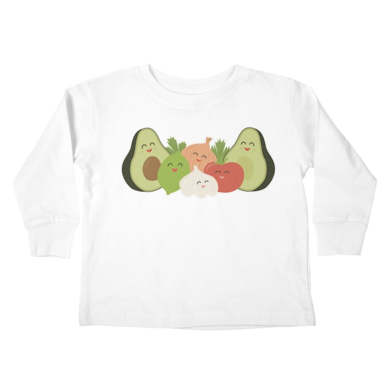 Guac & Roll Kids Toddler Longsleeve T-Shirt by Calobee Doodles