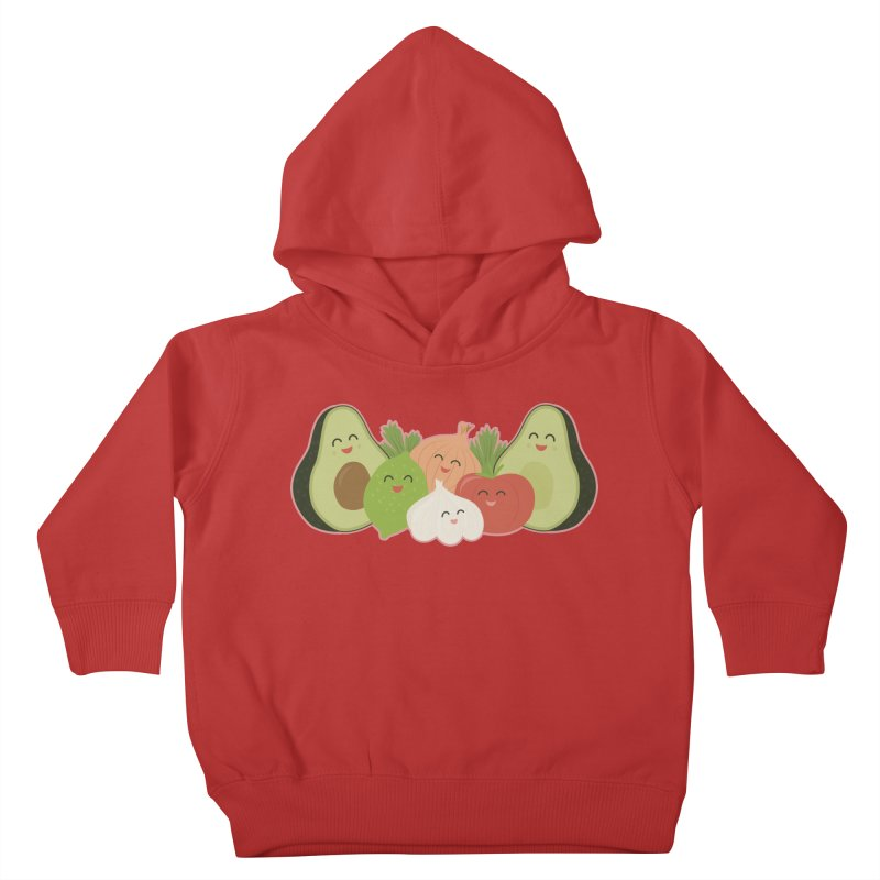 Guac & Roll Kids Toddler Pullover Hoody by Calobee Doodles