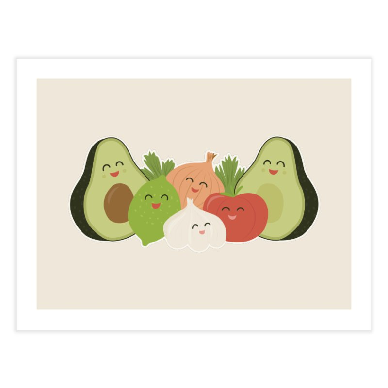 Guac & Roll Home Fine Art Print by Calobee Doodles