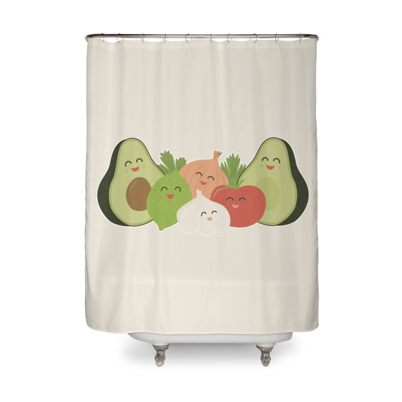 Guac & Roll Home Shower Curtain by Calobee Doodles