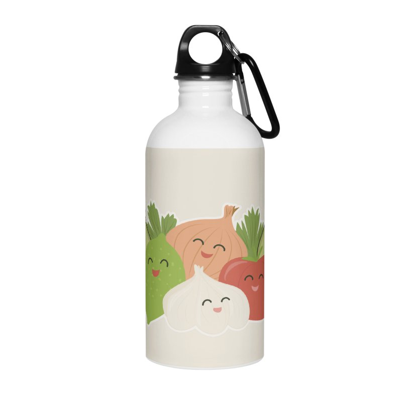 Guac & Roll Accessories Water Bottle by Calobee Doodles