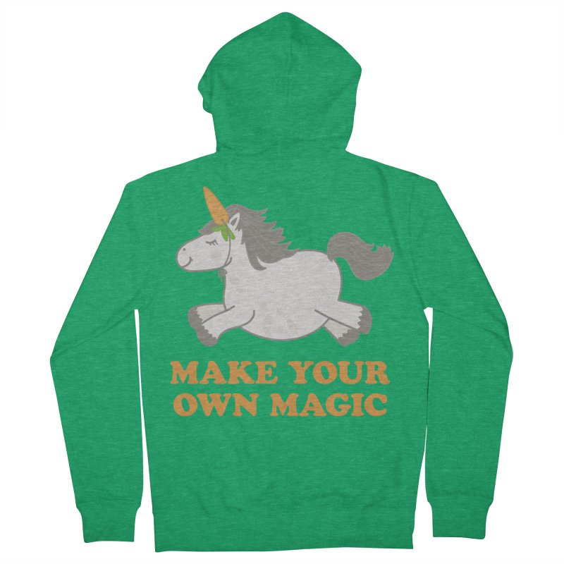 Make Your Own Magic Women's French Terry Zip-Up Hoody by Calobee Doodles