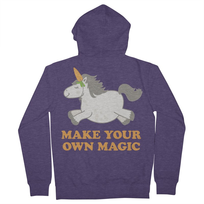 Make Your Own Magic Men's French Terry Zip-Up Hoody by Calobee Doodles