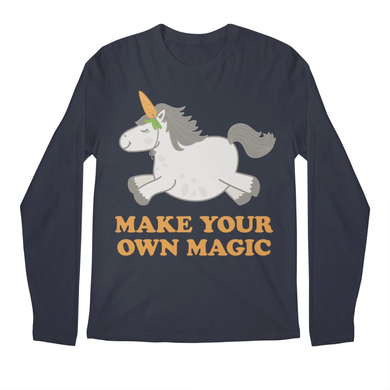 Make Your Own Magic Men's Regular Longsleeve T-Shirt by Calobee Doodles