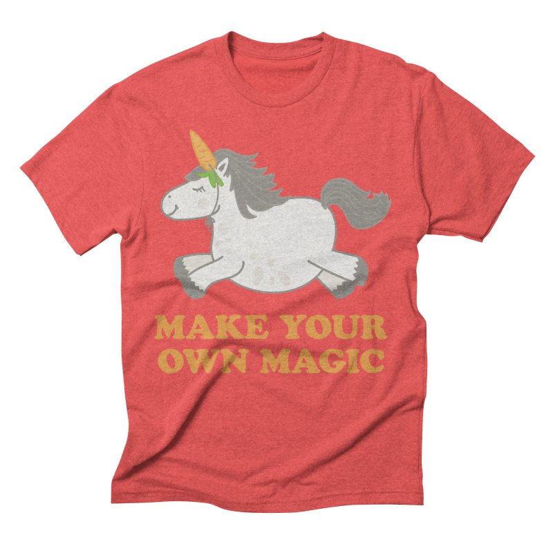 Make Your Own Magic Men's Triblend T-Shirt by Calobee Doodles