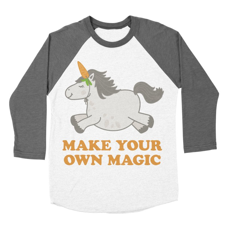 Make Your Own Magic Women's Baseball Triblend T-Shirt by Calobee Doodles