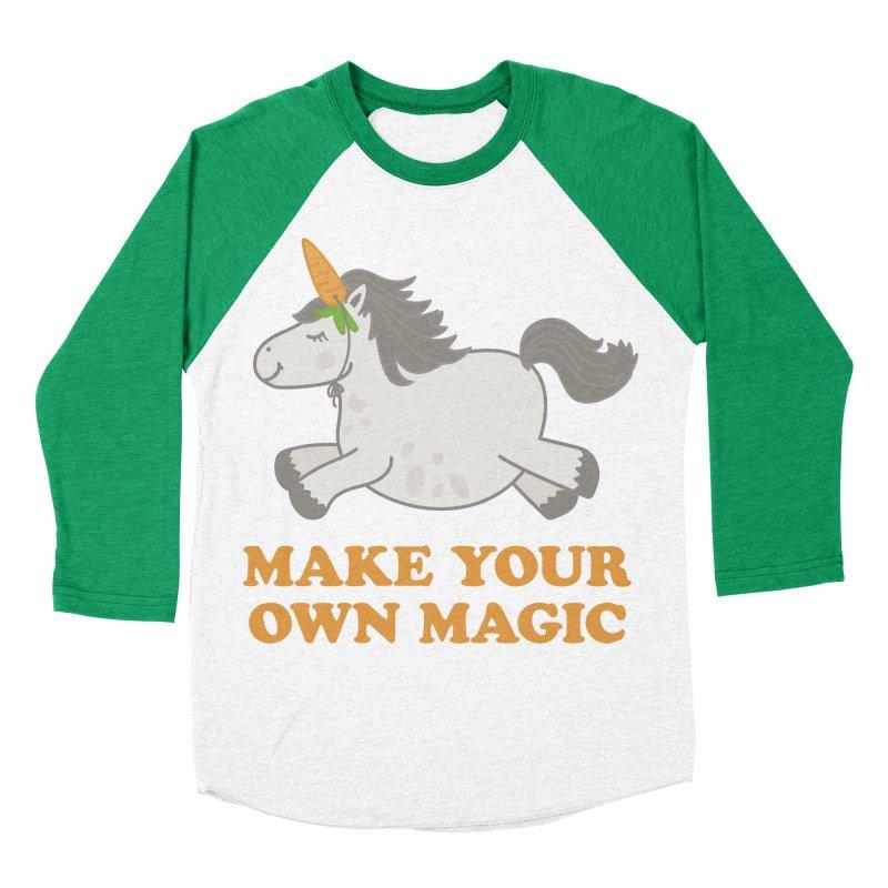 Make Your Own Magic Women's Baseball Triblend Longsleeve T-Shirt by Calobee Doodles