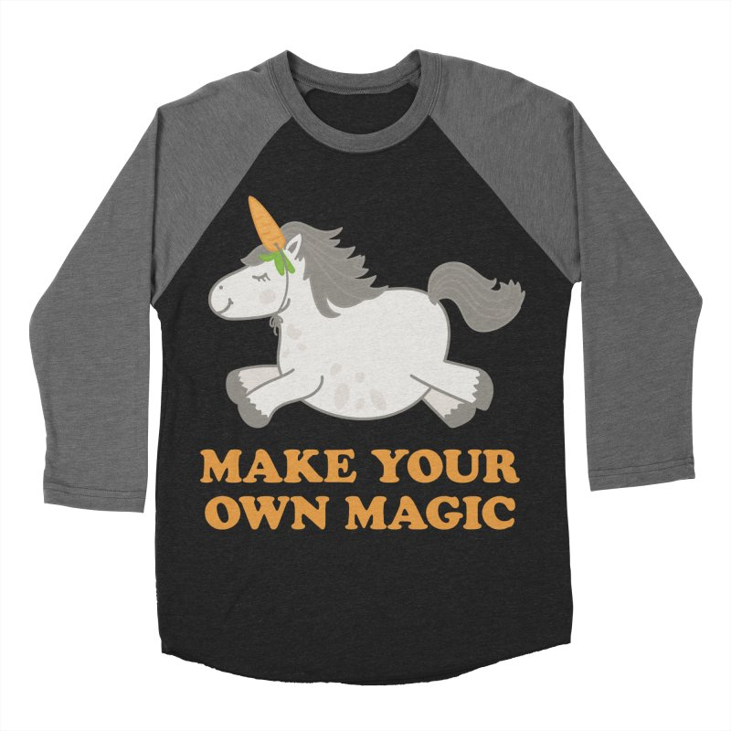 Make Your Own Magic Men's Baseball Triblend Longsleeve T-Shirt by Calobee Doodles