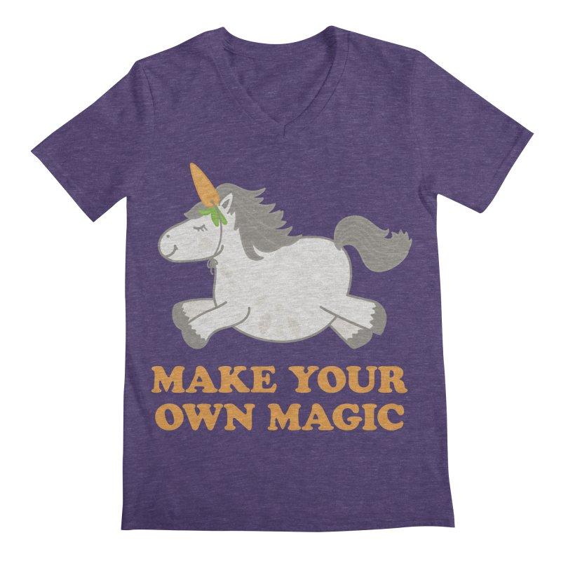 Make Your Own Magic Men's Regular V-Neck by Calobee Doodles