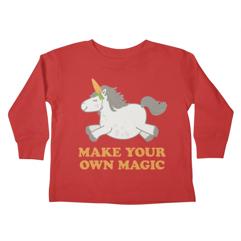 Make Your Own Magic Kids Toddler Longsleeve T-Shirt by Calobee Doodles