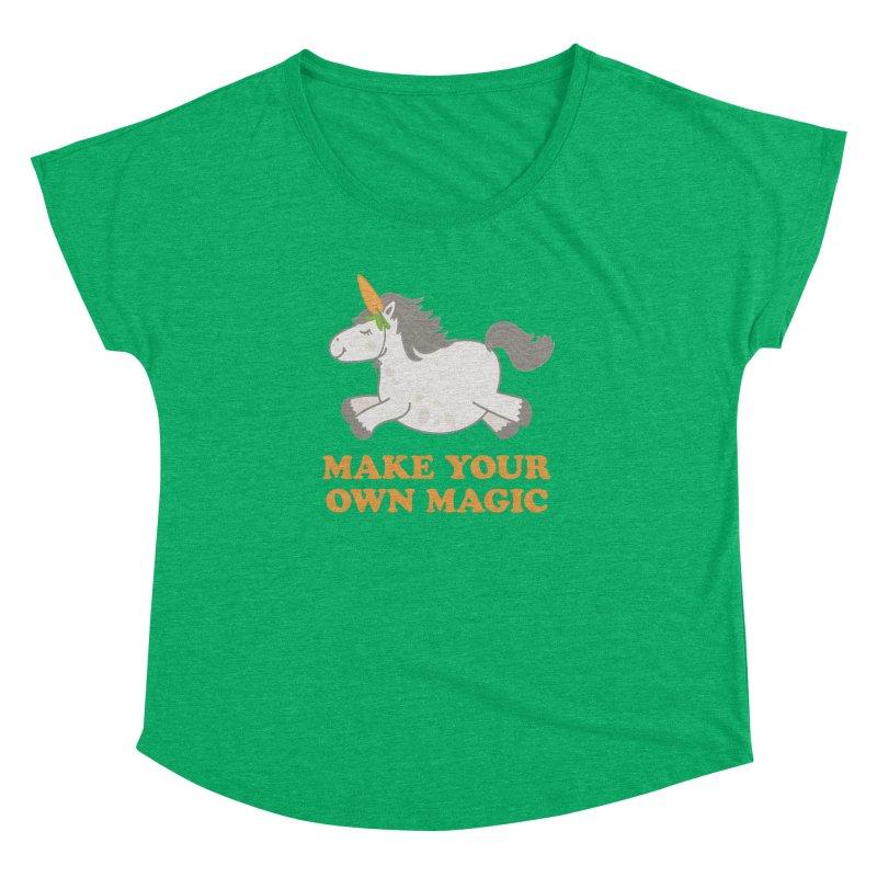 Make Your Own Magic Women's Dolman Scoop Neck by Calobee Doodles